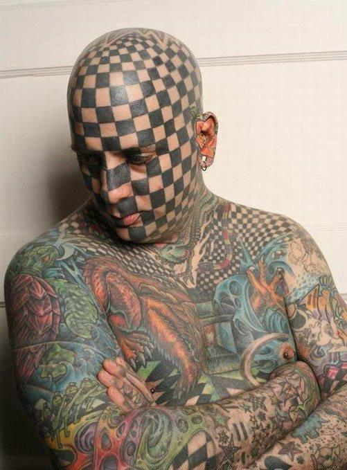 checkered man